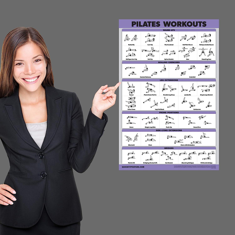 Pilates Mat Work Exercises Quickfit Pilates Workout Poster