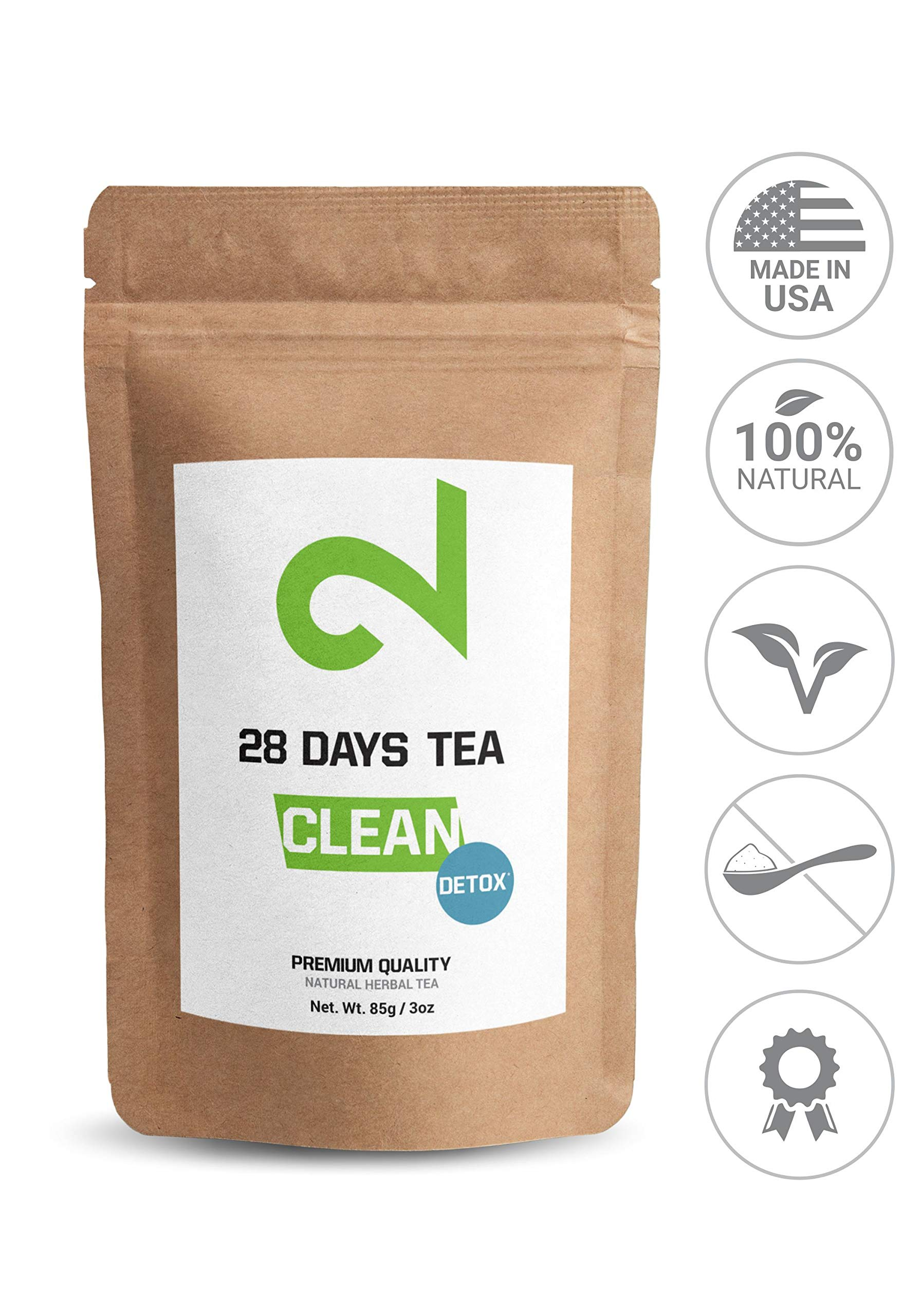 DUAL 28 Days Detox Tea for Weight Loss | Slimming and Cleanse Tea | Diet and Fat Loss Tea | Natural Dietary Supplement | Loose Leaf Tea | Made in USA | 85g (Original Version)
