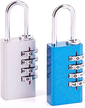 Small 25mm COMBINATION TRAVEL PADLOCK Luggage//Suitcase//Holdall Security Lock