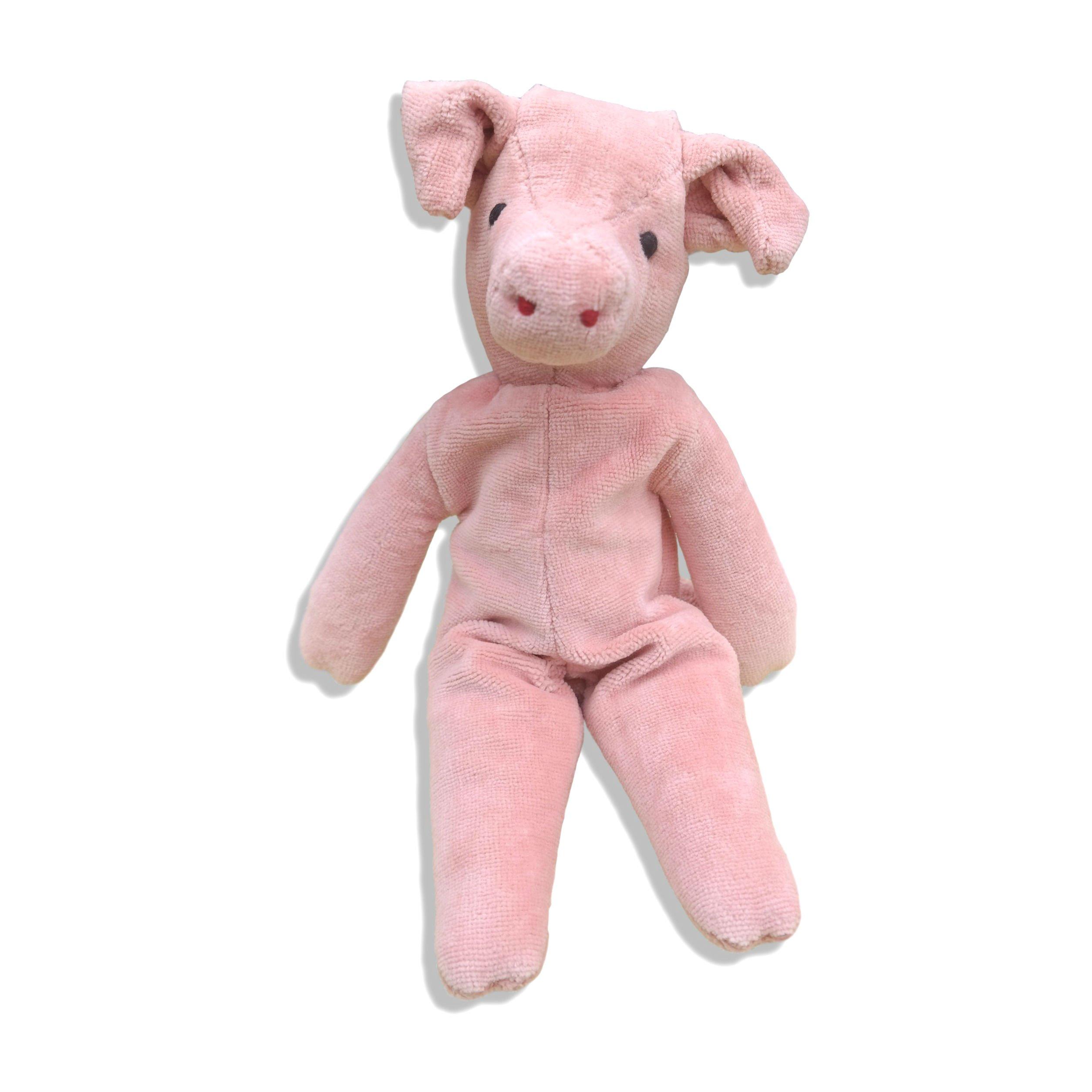 Senger Stuffed Animals - Organic Cotton Pig 12'' Tall by Senger Tierpuppen