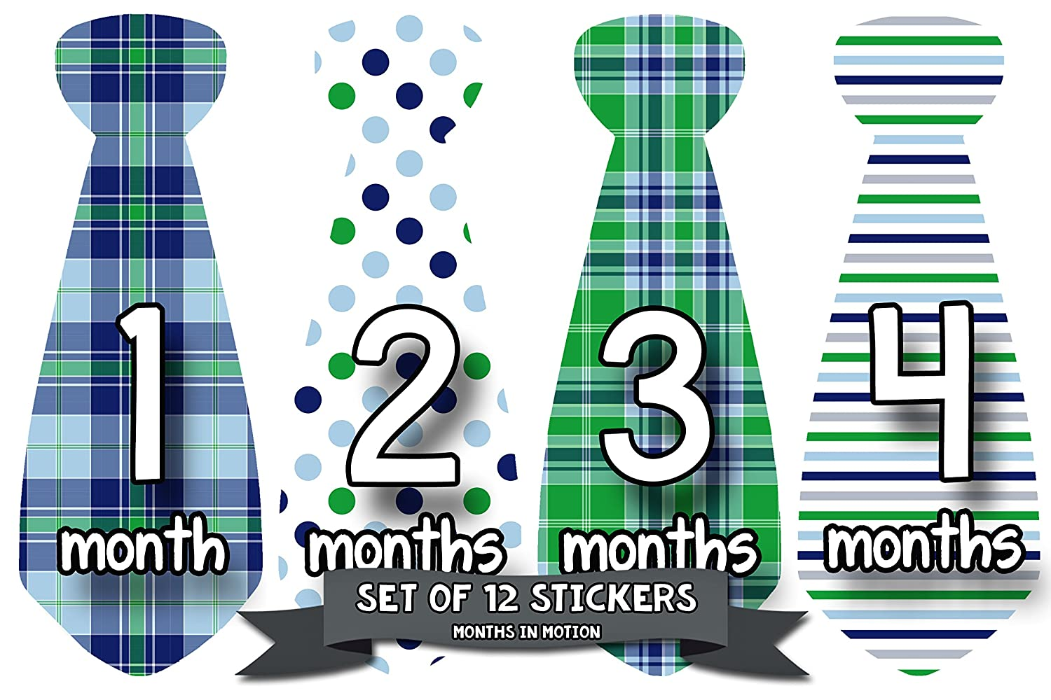 Baby Other Baby Keepsakes Months In Motion 712 Monthly Baby Stickers Necktie Tie Baby Boy Months 1-12 1-12