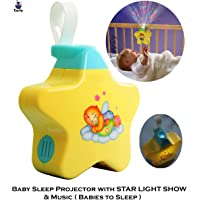 Toyify Baby Sleeping Stars Projector with Light and Music for Newborn,Babies, Infants Baby to Sleep ( Best Gift for New Born Babies and Infants) 0 - 9 Months Old Baby