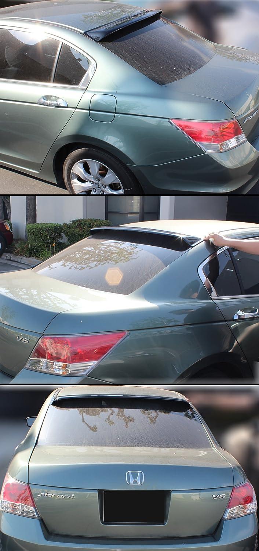 Cuztom Tuning Fits for 2008-2012 8th Gen Honda Accord 4 Door Sedan Rear Window Roof Visor Spoiler Deflector