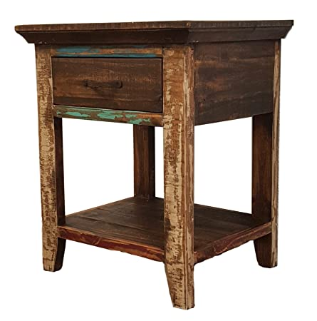 Rustics For Less Nightstand, Multicolor