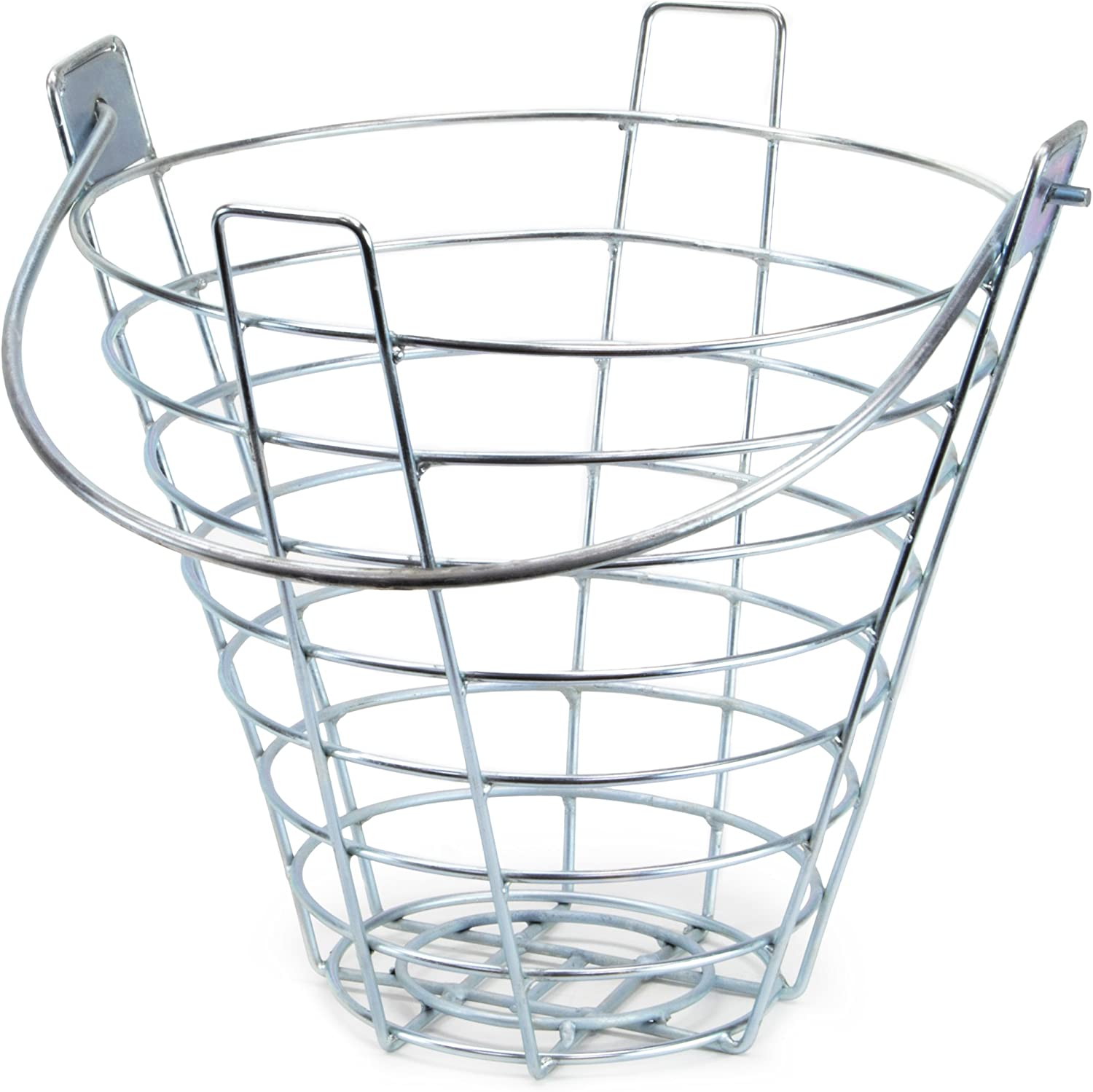 Crown Sporting Goods Steel Wire Golf Range Buckets: Metal Ball Carrying Practice Container with Handle - Holds 144 Balls