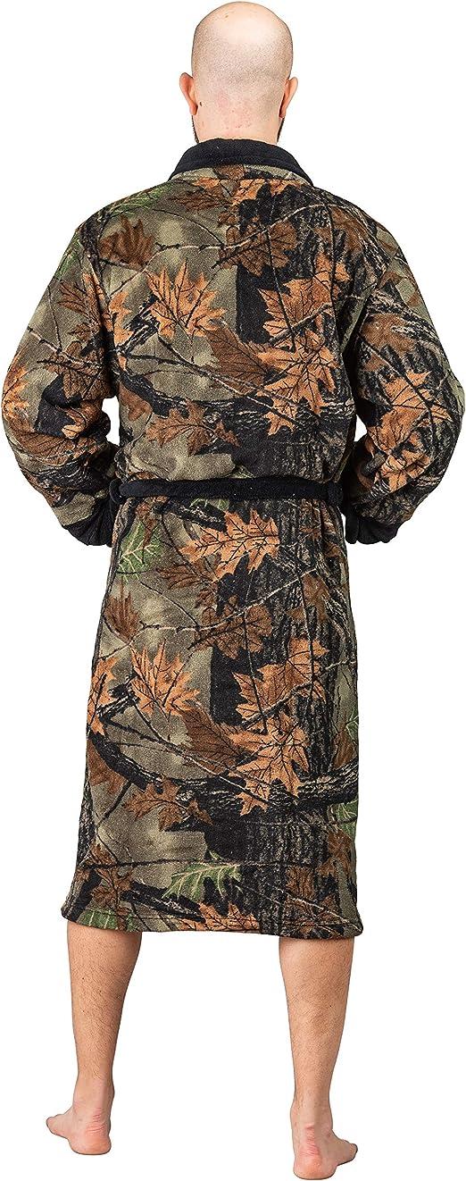 Mens Sleepwear Bathrobe Cover Up Army Green Camo Camouflage Bath Robe Womens Night Sleep Wear
