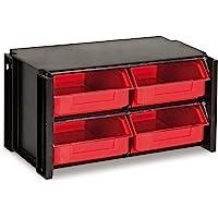 Tayg 348006 M/ódulo 12 cajones peque/ños negro y rojo