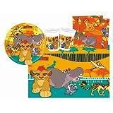Procos 10110294B - Kinderpartyset, Disney Der König der Löwen, Größe S, 37 teilig, bunt