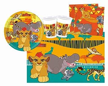 Procos 10110294B - Kinderpartyset, El Rey León de Disney, tamaño S, 37 piezas