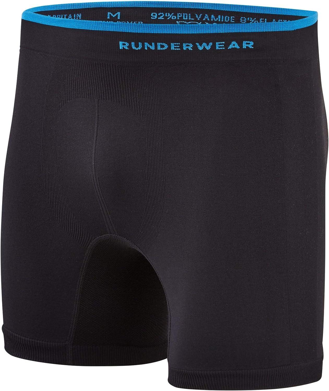 Runderwear Chafe Sports Slip da Uomo Anti-sfregamento Taglia M Colore: Nero
