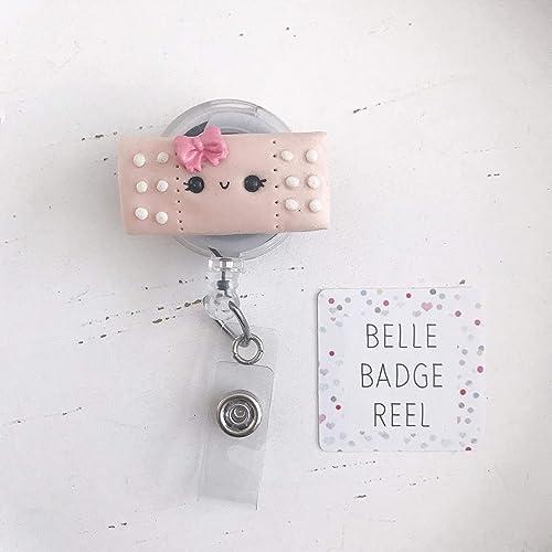 Amazon com: Pink Bandaid Badge Reel, Retractable ID Badge Holder
