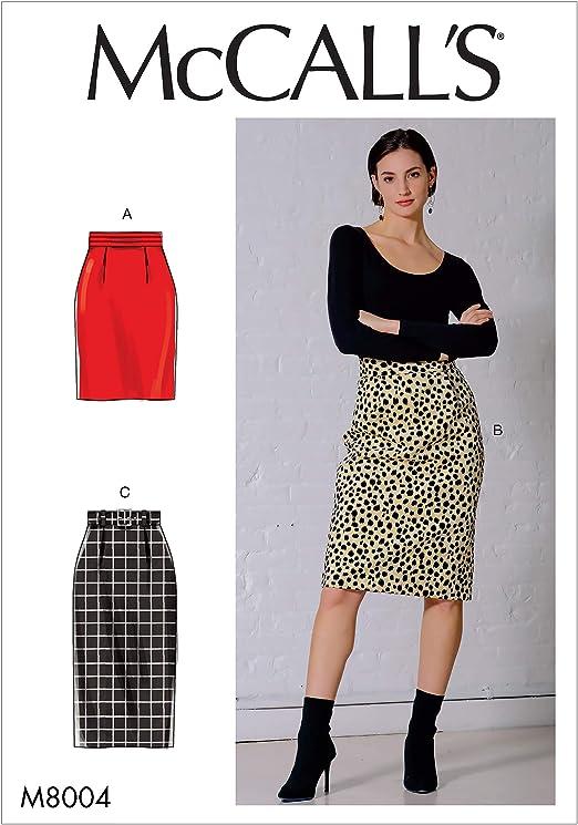 McCalls - Patrón de costura para falda y cinturón de mujer, papel ...
