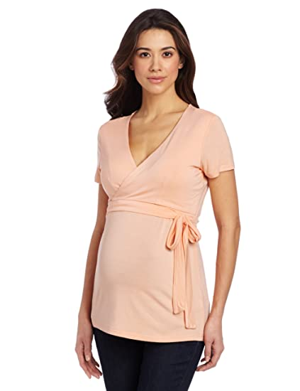39269b13f8 Ripe Maternity Women s Maternity and Nursing Ballet Wrap Shirt ...