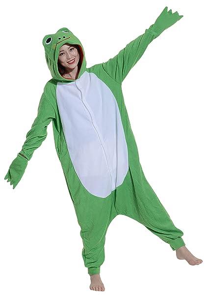 Fandecie Pijama Rana, Onesie Modelo Animales para adulto entre 1,60 y 1,