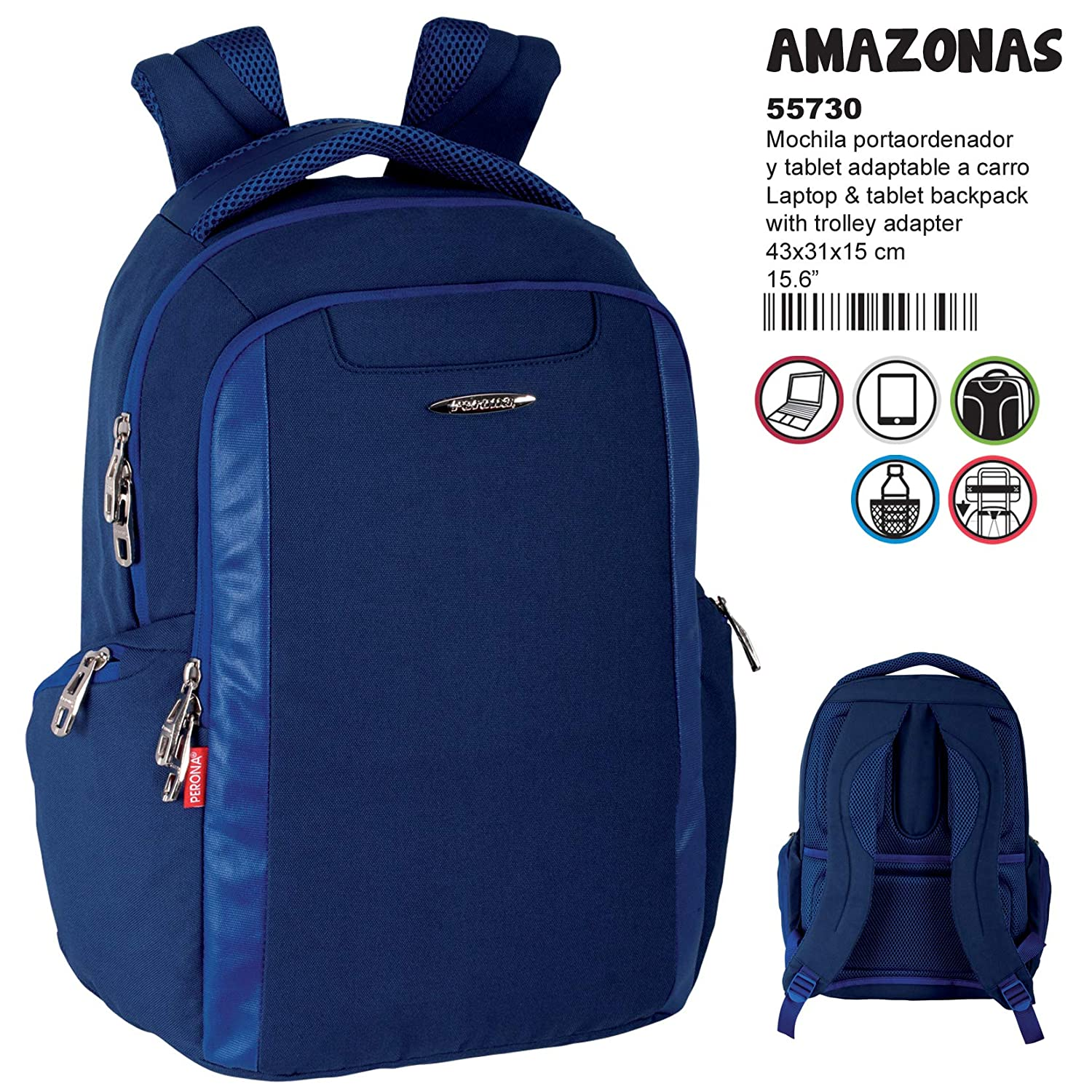 Amazon.com : Perona Amazonas Adaptable Laptop Backpack 43cm : Office Products