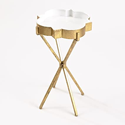 Genial InnerSpace Luxury Products Quatrefoil Tray Side Table