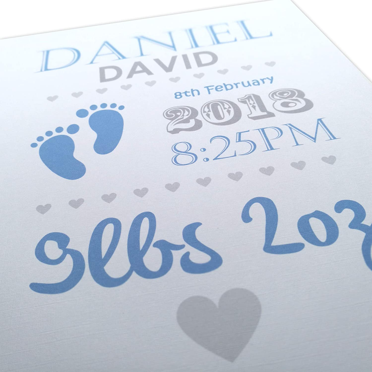 Christening Personalised Print, Boy and Girl, Perfect Gift - New Baby Present ~ Unframed Print LoveThis**