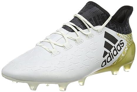 newest f7834 6dc61 adidas X 16.1 FG, Botas de Fútbol para Hombre, Blanco (Ftwbla   Negbas