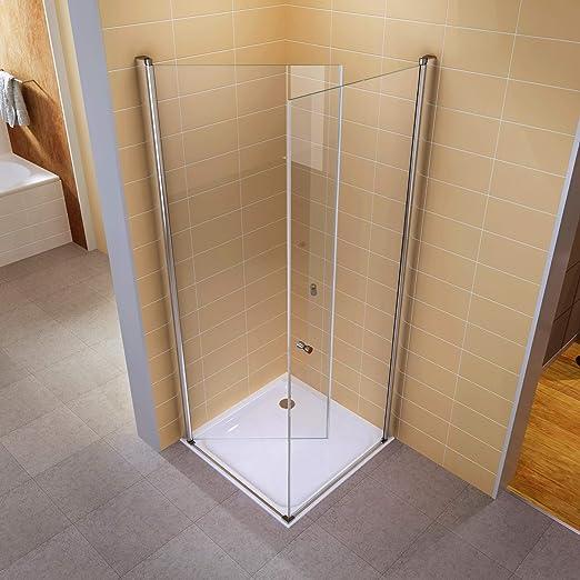95 x 95 colgante puertas plegable cabina de ducha de esquina (Mampara de ducha sin ducha bañera – # 861: Amazon.es: Bricolaje y herramientas