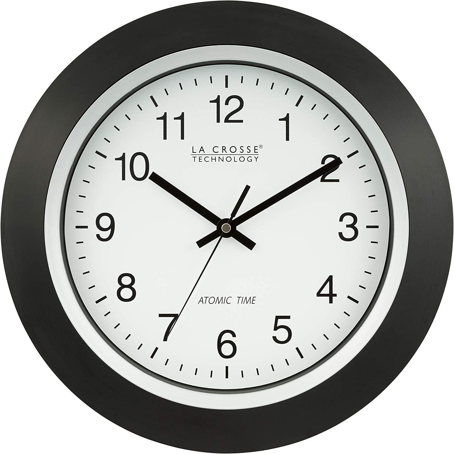 La Crosse Technology 404-1236 13.5-Inch Analog Atomic Black Frame Clock