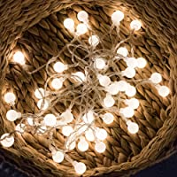 Fairy Lights Globe 6m 40 LED Warm White String Lights - Battery Operated for Christmas Party Home Wedding Birthday Indoor and Outdoor Use (Ball Light)