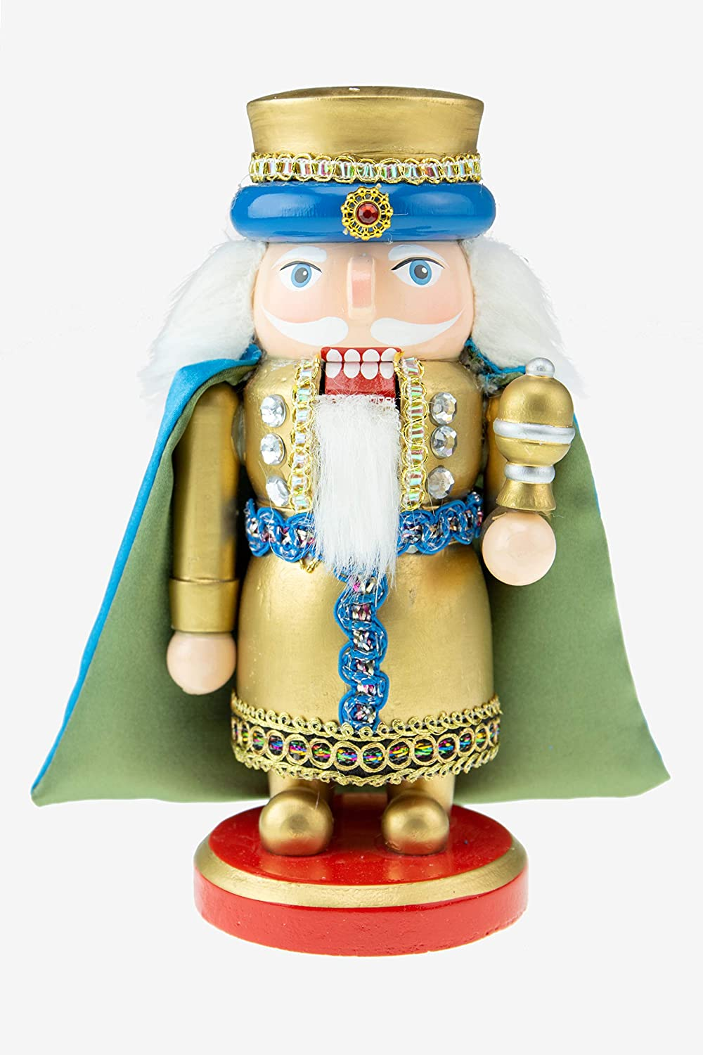 Clever Creations Traditional Wooden Scottish Small Wiseman with Myrrh Collectible Nutcracker, Festive Christmas Décor, Perfect for Shelves and Tables, 100% Wood
