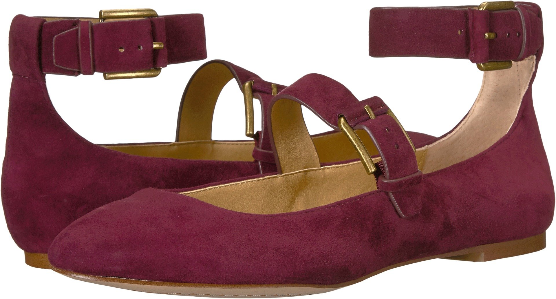 Splendid Women's Dalenna Mary Jane Flat, Wine, 7.5 Medium US