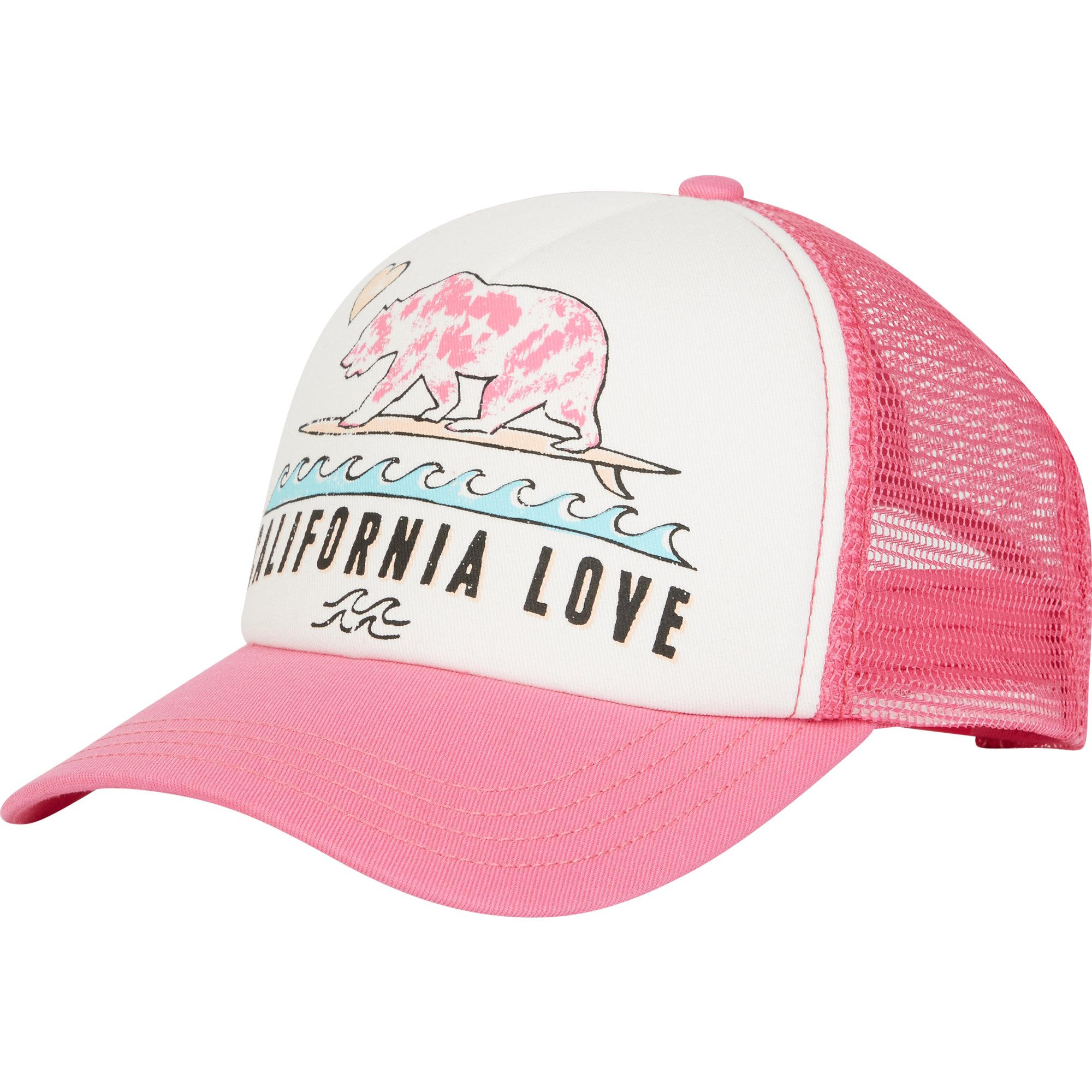 Billabong Big Girls' Pitstop Hat, Tahiti Pink, ONE
