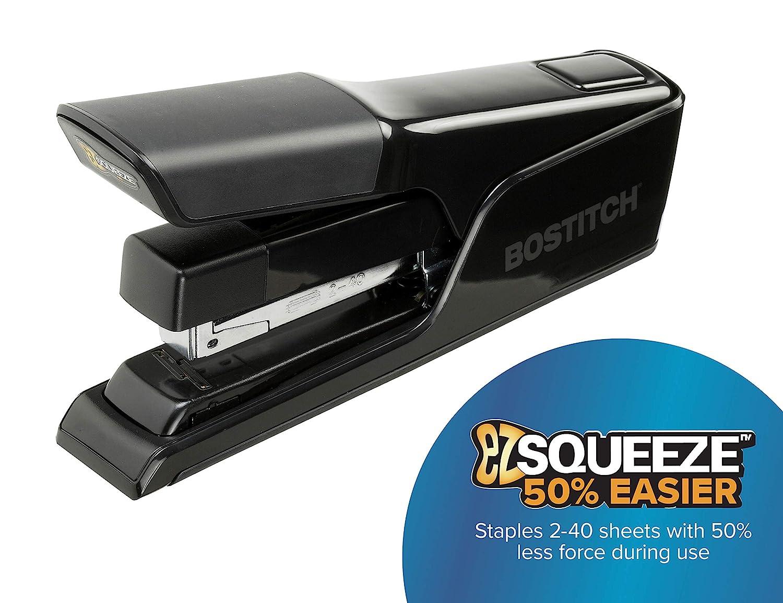 B8130 Reduced Effort Black Bostitch EZ Squeeze 130 Sheet Flat Clinch Heavy Duty Stapler