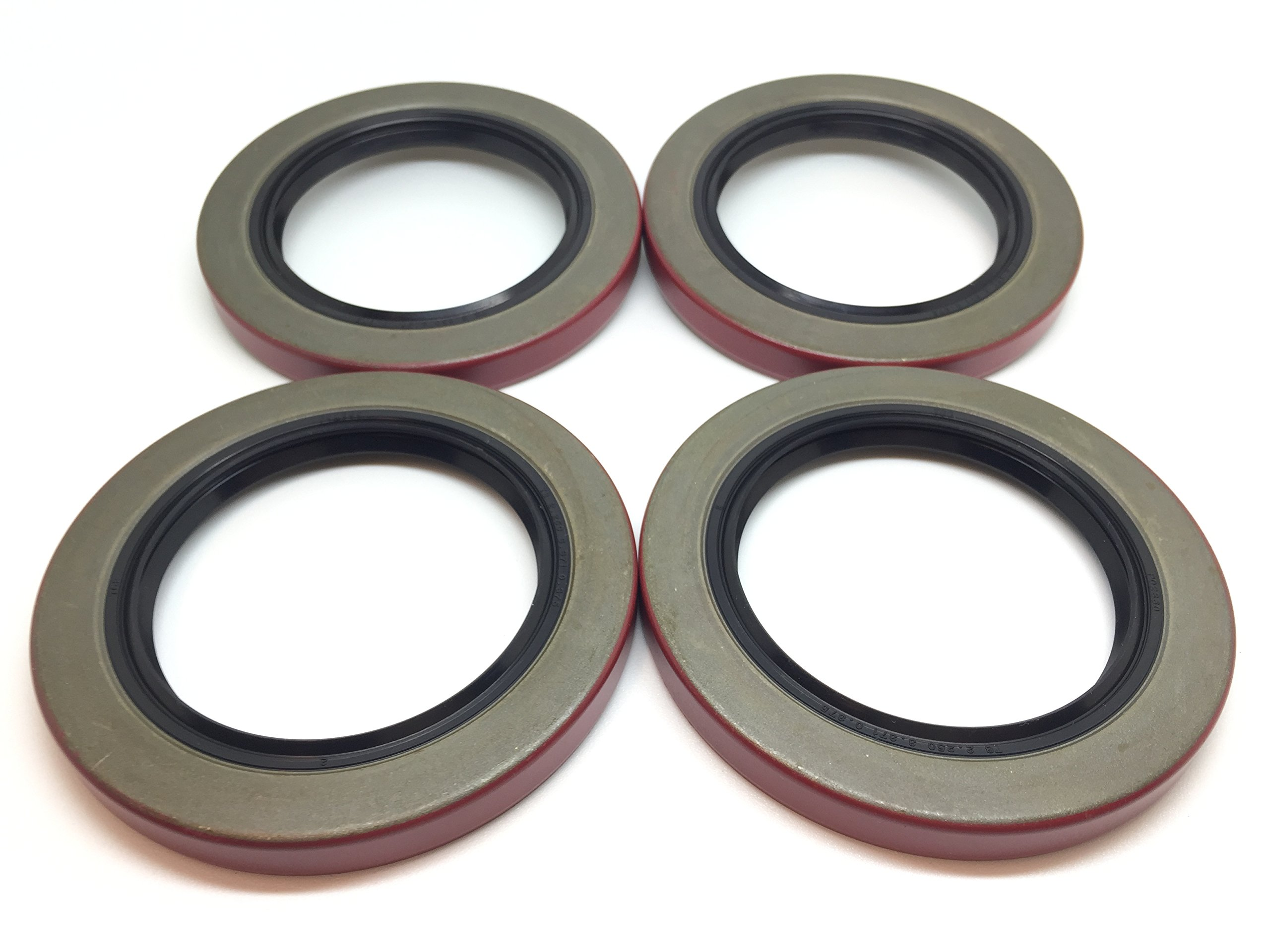 (Pack of 4) WPS Trailer Hub Wheel Grease Seal 10-36 (22333TB) 2.250'' I.D. for 5200-7000# Trailer Axles