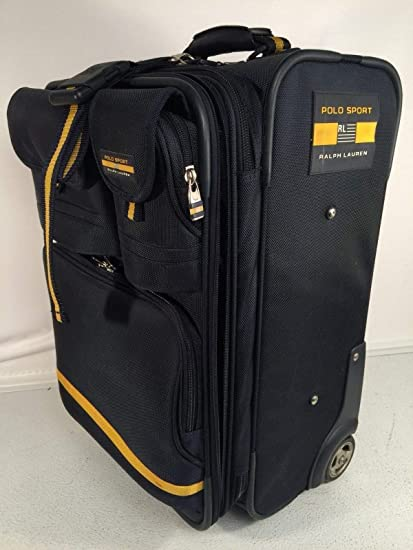 223c144ae477 ... promo code for polo sport ralph lauren rolling carryon luggage vintage  blue yellow suitcase 22quot d595e