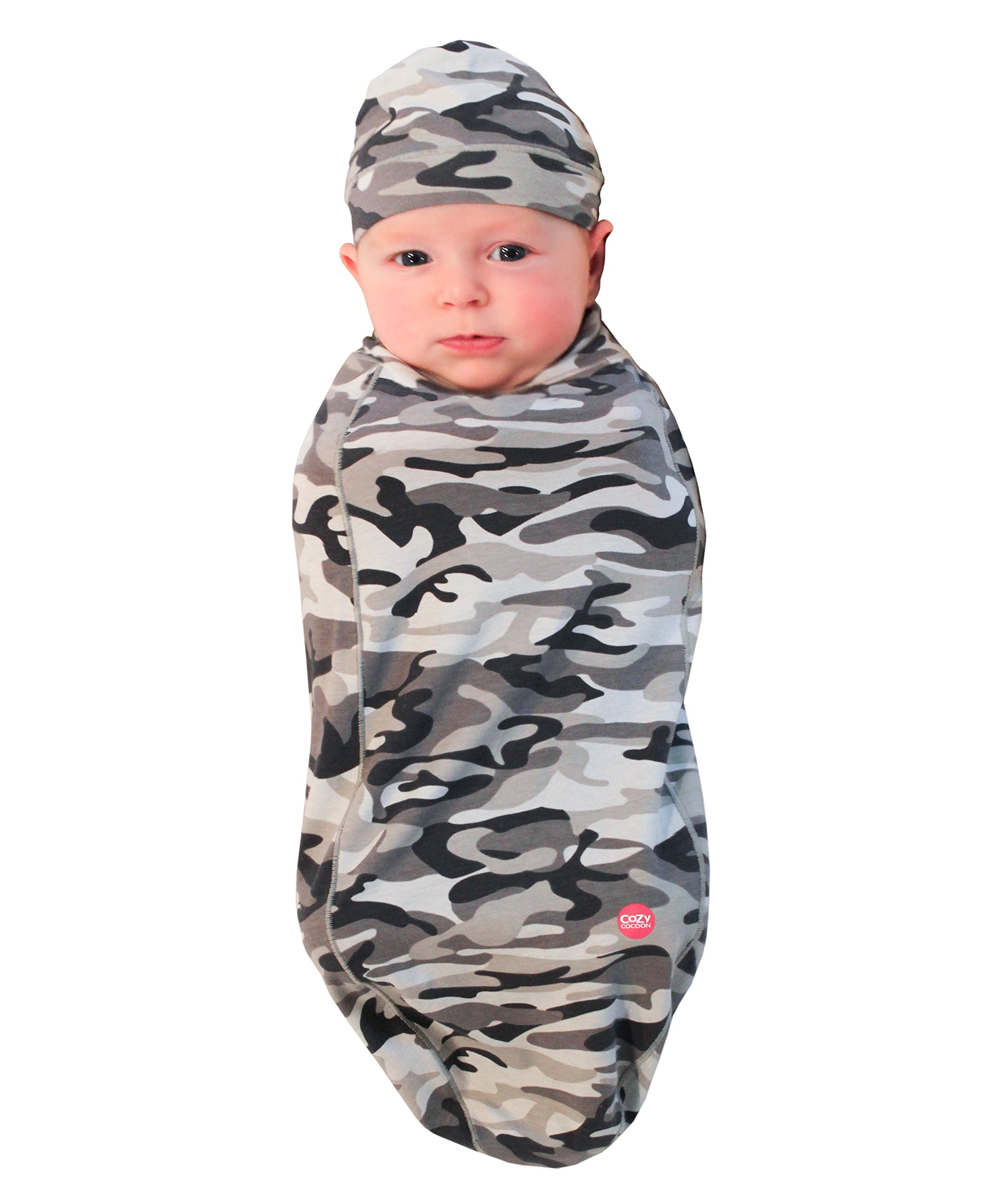 Cozy Cocoon Baby Cocoon Swaddle and Matching Hat, Camouflage, 3-6 Months