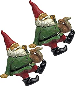 Garden Gnome Statue - Osbert the Garden Gnome Shelf Sitter - Outdoor Garden Gnomes - Funny Lawn Gnome Statues