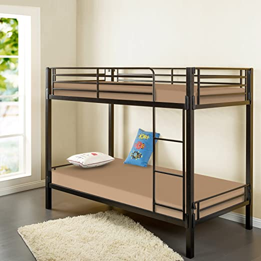 Zinus Sleep Master Memory Foam 5 Inch Bunk Bed / Trundle Bed / Day Bed / Mattress, Twin, Khaki