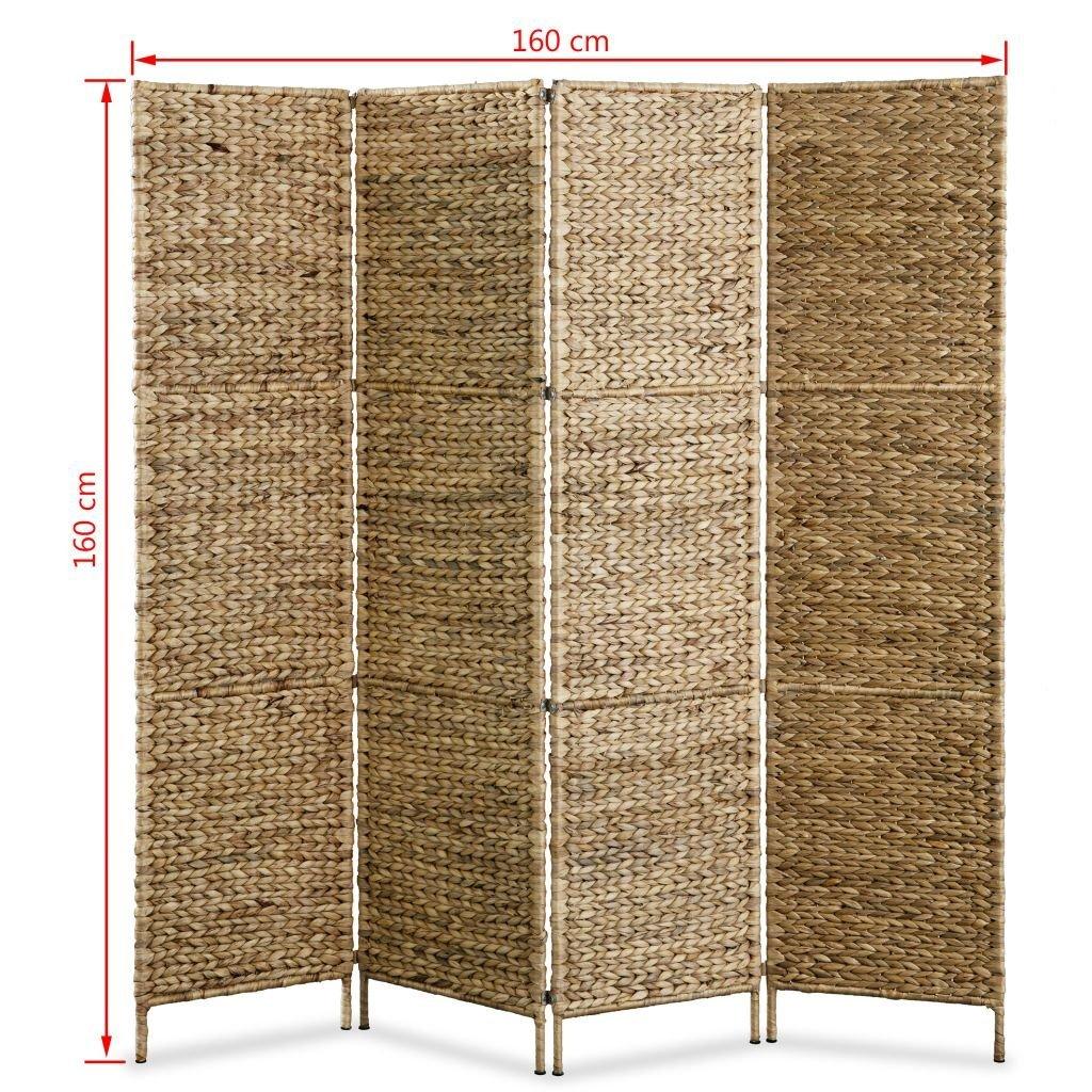 Biombo Separador de Ambientes 4 Paneles 160x160 cm Festnight