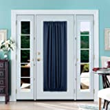 Deconovo Blackout Drapes Door Curtains Rod Pocket Door Panel Thermal Insulated Curtains for Door 54x72 inch Navy Blue 1 Panel