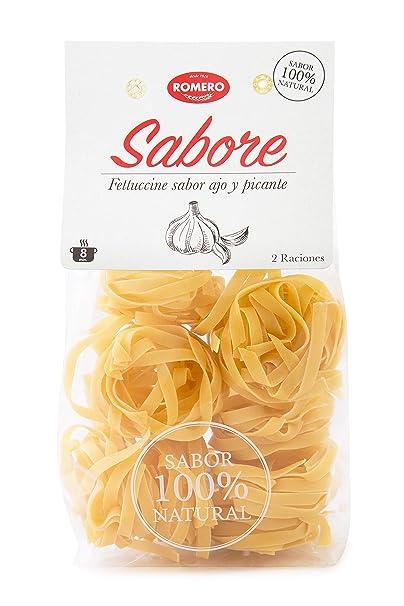 Romero, Fettuccine Sabore (Sabor Ajo Picante) - Caja de 10 paquetes de 200