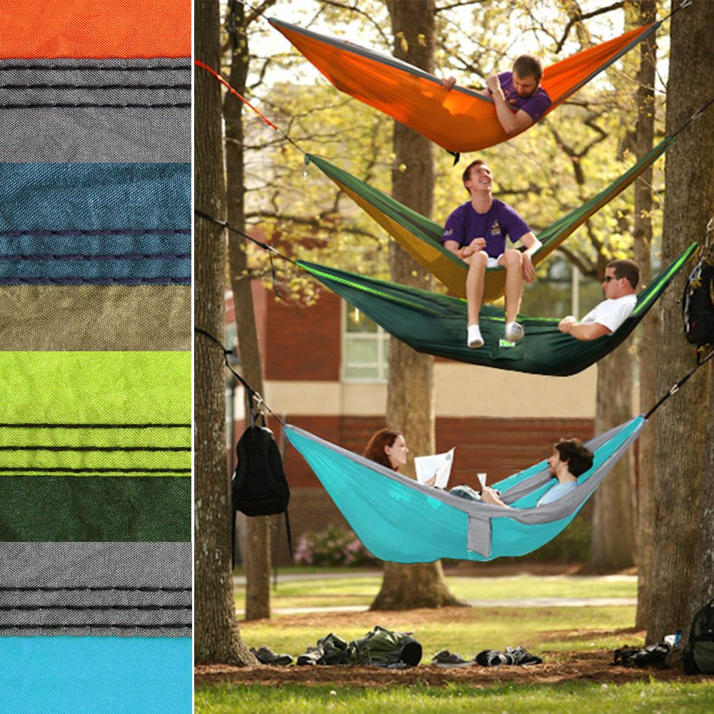 Greenmall Large Size Double Camping Hammock, Premium Portable Lightweight Parachute Nylon Hammock, Perfect For Backpacking, Travel, Beach, Hiking, 118\