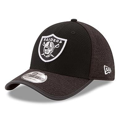 260e6ba731f New Era Men s Oakland Raiders 3930 Onfield Training Hat Black Size  Small Medium