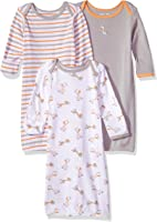 Wan-A-Beez Baby Boys' and Girls' 3 Pack Printed Baby Gowns