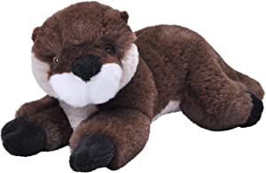 Wild Republic EcoKins Mini River Otter Stuffed Animal 8 inch, Eco Friendly Gifts for Kids, Plush Toy, Handcrafted Using 7 Recycled Plastic Water Bottles (24790)