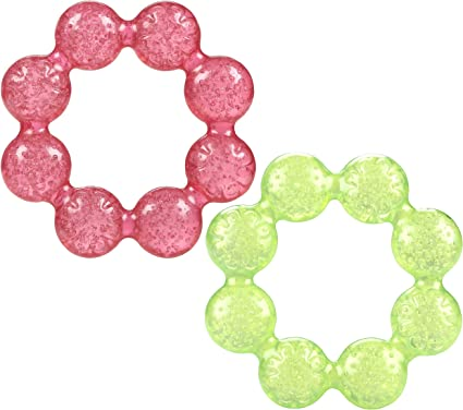 Nuby Pur Ice Bite Soother Teether Ring Colors May Vary