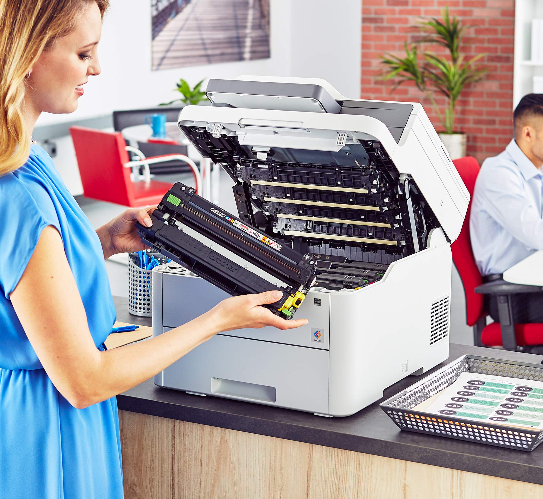 Brother MFC-L3710CW Compact Digital Color All-in-One Printer Providing Laser Printer Quality Results with Wireless, Amazon Dash Replenishment Enabled by Brother (Image #8)