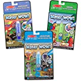 Melissa & Doug On The Go Water Wow! Activity Pad 3-Pack, Dinosaurs, Adventure, Animal (Reusable Water-Reveal Coloring Books, Great Gift for Girls and Boys - Best for 3, 4, 5, 6, and 7 Year Olds)
