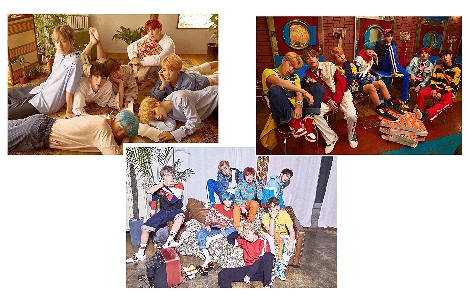 BTS E ver + L ver + V ver 11.7 X 16.5 inch LOVE YOURSELF 承 DNA 3 POSTERS Her