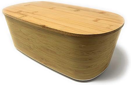 MGE - Panera - Contenedor de Cocina para el Pan - Caja de Mesa Grande para Guardar Pan - Bambú: Amazon.es: Hogar