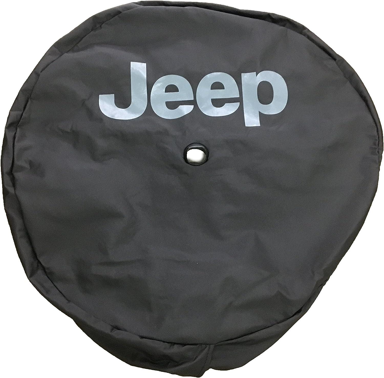 Black Vinyl Jeep Logo Mopar 82215434 2018 Jeep Wrangler Spare Tire Cover