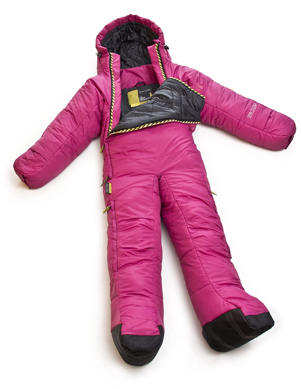 MusucBag - Saco de dormir con brazos y piernas rosa Talla:155 - 169 cm (M): Amazon.es: Deportes y aire libre