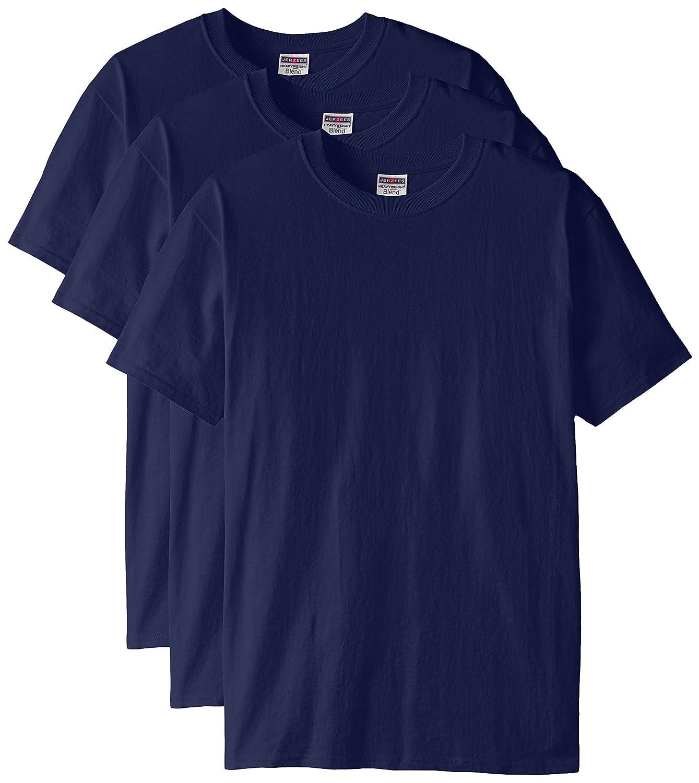 Jerzees メンズ 大人用 半袖Tシャツ(3枚組) B00T7UAK5E 3L|ネイビー ネイビー 3L