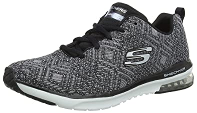 fff806f10cada Skechers Women's Skech-AIR Infinity-All Aglow Trainers, (Black/White BKW